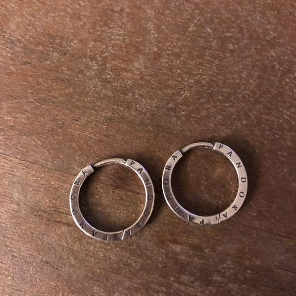 92d771cc0 reduced pandora signature hoop earrings 0be07 66cb4